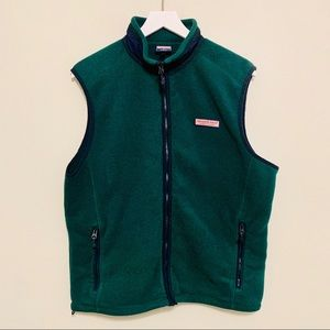 Vineyard Vines | Green Fleece Whale Vest